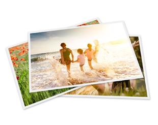 Fotoabzüge mit weißem Rand