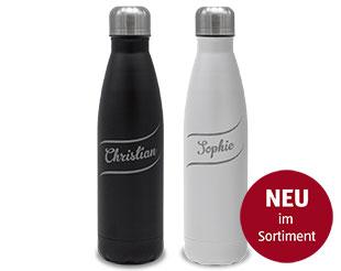 Edelstahl Isolierflasche mit Gravur