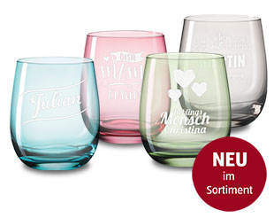 "Trinkglas ""farbig"""